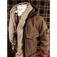 Composizione A/I '17 • #autunno #autumn #inverno #winter #montgomery #softshell #maglione #sweater #stoneisland #camicia #shirt #xacus #sciarpa #scarf #roselli • #macelleria #mestre