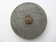 Vintage German Galvanized Metal Hot Water Bed Foot Warmer w/Brass Cap #Hailostampedoncap
