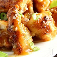 """Light"" Orange Chicken.  it's not fried, uses real orange juice, and you can use honey or agave in place of sugar.  TRY ME!"