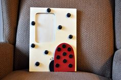 Ladybug Themed Room | LadyBug Picture Frame - Black Polka Dot - Red and Black - Kids Room ...