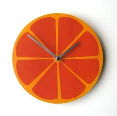 Objectify Clock - Orange | The Red Dog Gift Shop - Buy Online - NZ New Zealand - Motueka, Nelson
