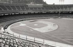 Candlestick Park Black & White Vintage and by untouchedtcphotos