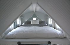 Our Tiny Attic, this is how big the 'bedroom' is!
