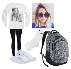 """""""Lazy Day @  School (READ DESCRIPTION)"""" by haley-grace-brand on Polyvore featuring NIKE, women's clothing, women, female, woman, misses and juniors"""