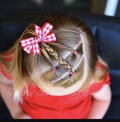 Trendy Braids For Kids Short Little Girls Toddler Hair Ideas - braids - Baby Hair Easy Toddler Hairstyles, Baby Girl Hairstyles, Princess Hairstyles, Hairstyles For School, Easy Hairstyles, Teenage Hairstyles, Hairstyle Short, Hairstyles 2016, Children Hairstyles Girls
