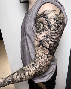 Sleeve and Hand Tattoos . Sleeve and Hand Tattoos . Pin by Samra Says On Tattoo Ideas 3 Arm Sleeve Tattoos, Tattoo Sleeve Designs, Forearm Tattoos, Body Art Tattoos, Tattoo Ink, Etching Tattoo, Tattoo Sleeves, Tattoo Flash, Full Hand Tattoo