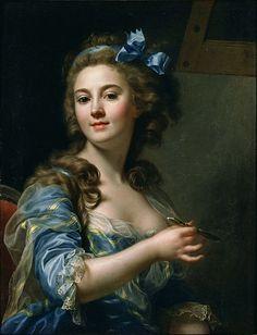 """Marie-Gabrielle Capet (1761–1818)  """"Self-portrait"""" (1783)Marie-Gabrielle Capet. A talented painter. Pupil of  Adélaïde Labille-Guiard."""