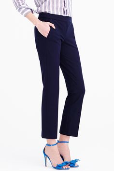 The Solution: Cropped HemsThe typical capri becomes an ankle cut when you're petite, making these skinny-fit trousers an ideal work pant.