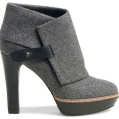 It's all about the gray! High Heel Boots, Heeled Boots, Bootie Boots, Shoe Boots, High Heels, Women's Heels, Grey Booties, Women's Boots, Ankle Boots