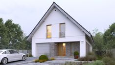 Dostępny 4A - DOMY Z WIZJĄ Home Fashion, Planer, Shed, Exterior, Outdoor Structures, Cabin, Mansions, House Styles, House Architecture