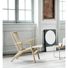 Buy the Low Armchair White Oiled Oak & Natural Paper Cord Seat by Hans J. Wegner and more online today at The Conran Shop, the home of classic and contemporary design Scandinavian Chairs, Scandinavian Design, Design Moderne, Deco Design, Danish Design Store, Lounge Chair Design, Deco Boheme, Furniture Design, Interior Design