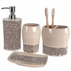 Superbe Cracked Glass Bathroom Accessories Modern Bathroom Decor, Glass Bathroom,  Simple Bathroom, Bathroom Interior
