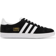Adidas Originals Gazelle OG suede and leather sneakers, Women's, Size:... (€83) ❤ liked on Polyvore featuring shoes, sneakers, sapatos, black, leather footwear, real leather shoes, adidas originals, suede leather shoes and training sneakers