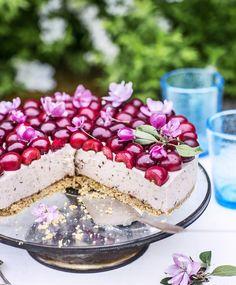 Kirsikkajuustokakku | Maku Cherry On The Cake, Pavlova, Vanilla Cake, Tiramisu, Cheesecake, Baking, Ethnic Recipes, Desserts, Food