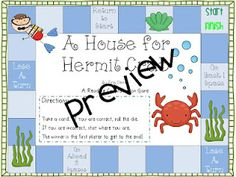 comprehension game for A House for Hermit Crab