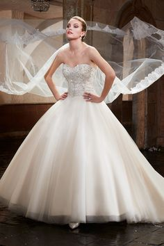 544a83acce4f Wedding gown by Mary's Bridal Organza Bridal, Mary's Bridal, Tulle Wedding, Wedding  Dress