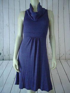 MICHAEL STARS Dress One Size (S-M) Purple Heather Pullover Knit Sleeveless Cowl