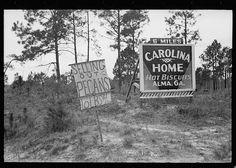 Road sign near pecan stand, Alma, Georgia