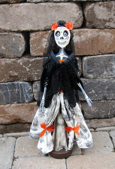 Published in Autumn 2013 Art Doll Quarterly, Day of the Dead/Dia de los Muertos Skeleton by AnabooCreations, $175.00