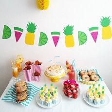 Luloveshandmade: Colorful party concepts and food tables:
