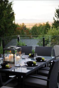 Patio Furniture. Beautiful patio furniture with simple, modern lines. #Patio #PatioFurniture #ModernFurniture