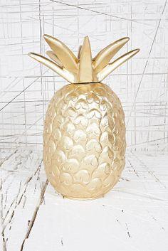 Golden Pineapple lamp