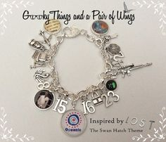 LOST Swan Hatch Theme Charm Bracelet by KarenchantedForest on Etsy