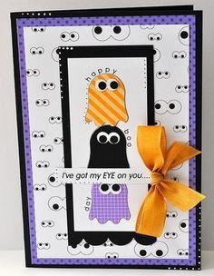 halloween-cards-13 Fall Cards, Holiday Cards, Owl Punch Cards, Tarjetas Diy, Halloween Scrapbook, Handmade Halloween Cards, Owl Card, Halloween Party Invitations, Cricut Cards