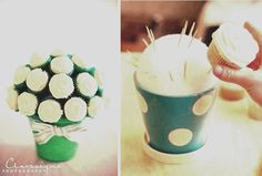 Cupcake Flower Pot  Perfect For Any occasion; Easter, Baby Shower, Birthday, Mothers Day. Enjoy!