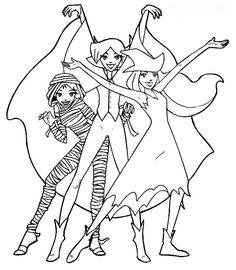totally spies coloring pages | Anime | Pinterest | Coloring ...