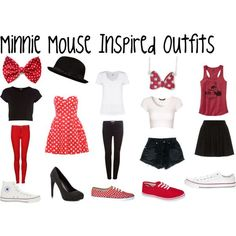 """""""minnie mouse inspired outfits"""" by ashley2017 on Polyvore"""