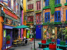 I want to go here!!! It's called Neals Yard in London. so gorgeous, colorful and me!