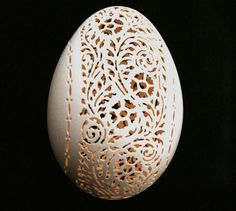 Hand Carved Victorian Lace Eggs