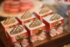 Caixinhas de doces de lembrança de aniversário de princesa