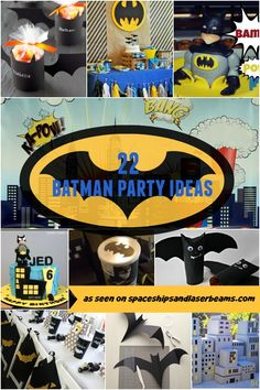 22 Batman Party Ideas - Spaceships and Laser Beams