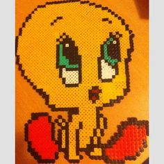Tweety perler beads by socraftastic_girl