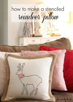 655 best Christmas Pillows images on Pinterest
