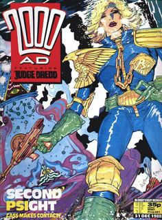CLASSIC COVER: Judge Anderson by Brendan McCarthy for 2000 AD Prog 607 (31st December, 1988)