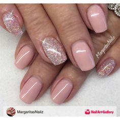 Nude Gel Mani by MargaritasNailz via Nail Art Gallery #nailartgallery #nailart #nails #gel #glitter #naturalnails #glittergel #nailfashion #shortnails #geloverlay #gelnails #glitterfade #nudenails