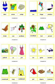zomer Juf Sanne Preschool Worksheets, Preschool Learning, Preschool Activities, Teaching Kids, Montessori, Learn Dutch, I Love School, Dutch Language, School Themes