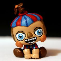 Made this from a LPS monkey baby Hope you like him! Balloon Boy (BB) from inspired LPS custom Custom Lps, Fnaf Baby, Lps Toys, Little Pet Shop, Bendy And The Ink Machine, Creepy Cute, Doll Repaint, Clay Projects, Art Dolls