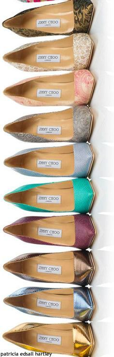 Jimmy Choo - I just want the gold and the pink, and maybe the......what the heck I want them all