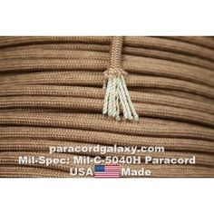 Mil Spec 550 Paracord Mil-C5040H Desert Tan (#163-399F59) Made in USA