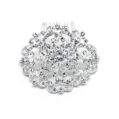 Bridal Side Comb Vintage Pave Crystal Oval Victorian Wedding Hair Accessories