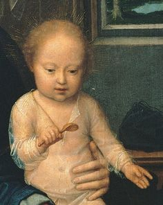Madonna and Child with the Milk Soup (detail), Gerard David, ca. 1510
