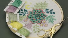 Hand embroidery tutorial for beginners. Here you find stitch embroidery: french knot, splitstitch, back stitch, satin stitch. It is basic embroidery hoop art. Floral Embroidery Patterns, Hand Embroidery Tutorial, Modern Embroidery, Embroidery Hoop Art, Beaded Embroidery, Embroidery Stitches, Back Stitch, Embroidery For Beginners, Satin Stitch