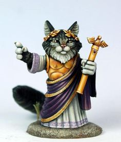 FRP GAMES - PRODUCT - Limited/Special Edition Miniature: Augustus Tribute - Emperor Cat