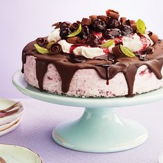 Topped with melted ganache and Chantilly whipped cream, our no-bake frozen black forest cheesecake will impress your guests this summer. Try it today.