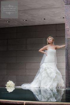 houston bridal photography portrait pool museum dramatic pose