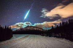 Beautiful shooting star : pics